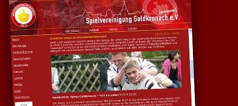 """Screenshot der """"alten"""" Internetseite"""