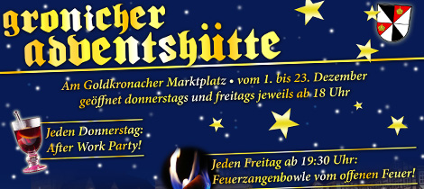 Gronicher Adventshütte