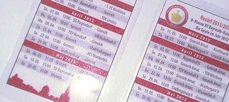 Mini-Spielpläne 2011/12