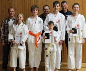 Karate-Prüfung am 21. Dezember 2012