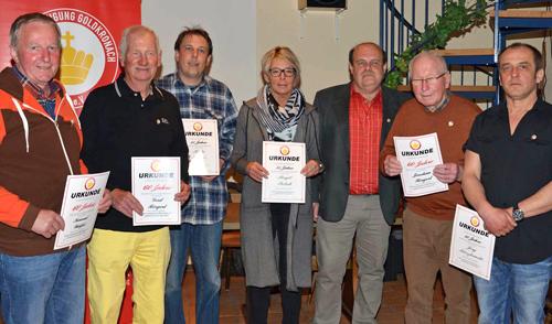 SpVgg Goldkronach – JHV 2015: Ehrungen