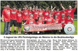 C-Junioren Kreisligameister 2009: JFG Fichtelgebirge.