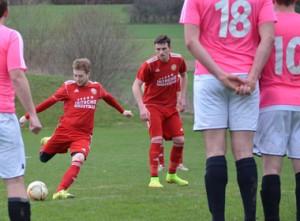 SpVgg Goldkronach – USC Post Bayreuth: Sebastian Katholing erzielt das 1:0.