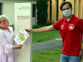 SpVgg Goldkronach: Spende an Albert-Schweitzer-Hospiz (Gronicher Marathon)